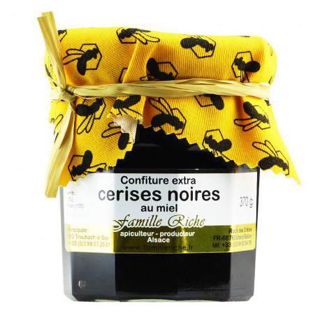 Confiture extra de cerises noires au miel