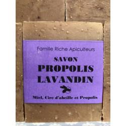 Savon lavande propolis maison (saponification à froid)