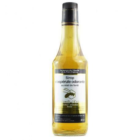 Sirop d'aspérule au miel de forêt