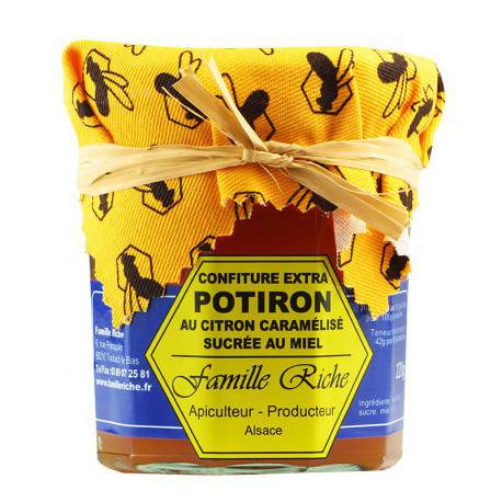 Confiture extra de potiron au citron caramélisé