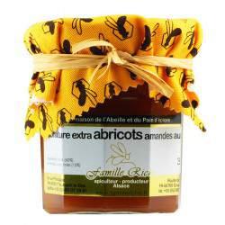 Confiture extra d'abricots sucrée au miel